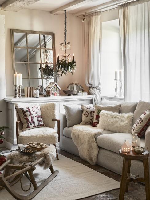 Ideen für das weihnachtliche Wohnzimmer mit Deko