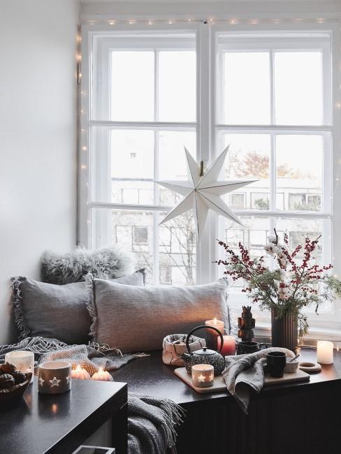 Kuschelige Fensterdeko für Weihnachten