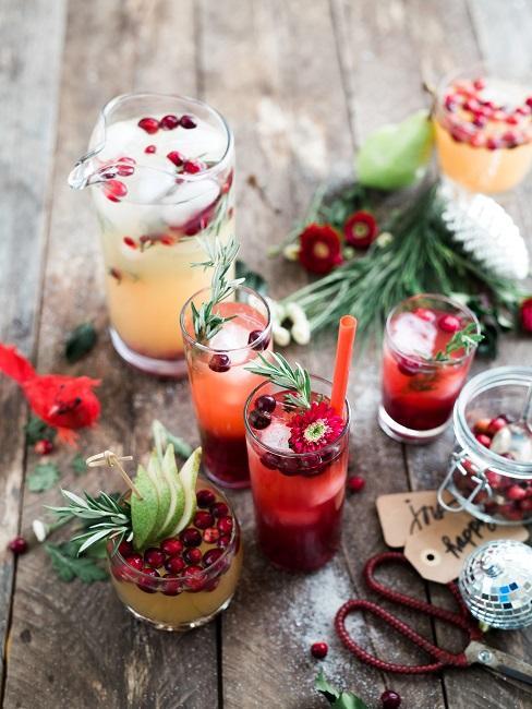 Winter Cocktails verschiedene Sorten