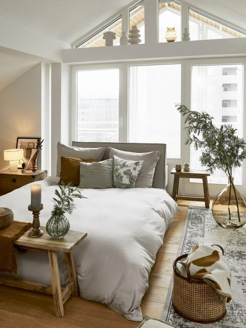 Habitación con una decoración glam