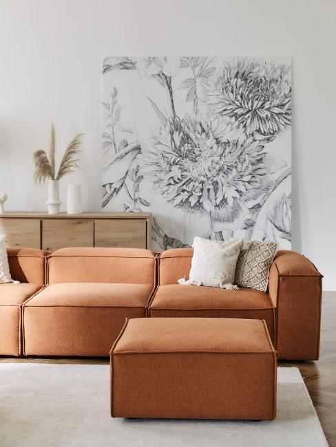 Sofa lennon en terracota
