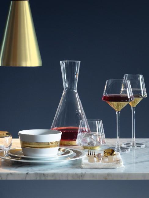 Copas de vino tinto soplados artesanalmente Space, 2 uds., Vidrio, Transparente, dorado, Ø 11 x Al 23 cm Lsa International Copas de vino tinto soplados artesanalmente Space, 2 uds.