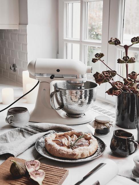 Preparación de tarta con kitchen aid