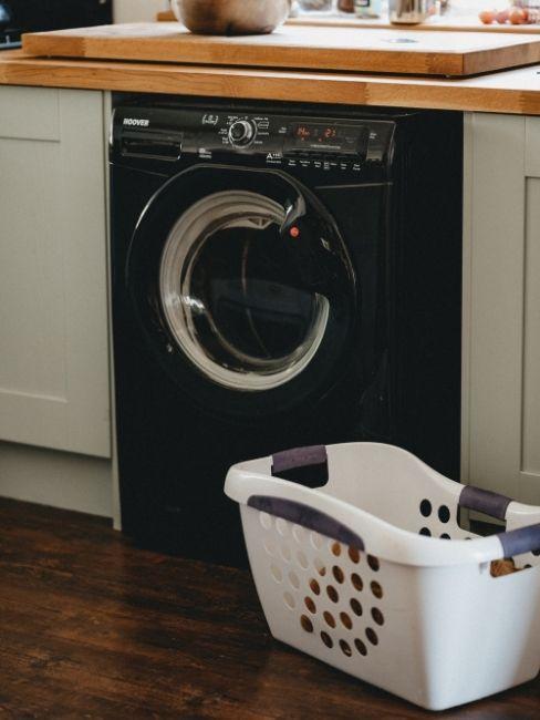 Lavadora en negro