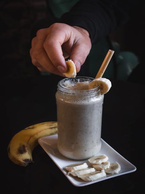 Smoothie de plátano y chocolate