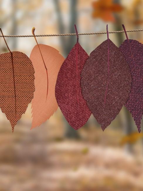 hojas de telas