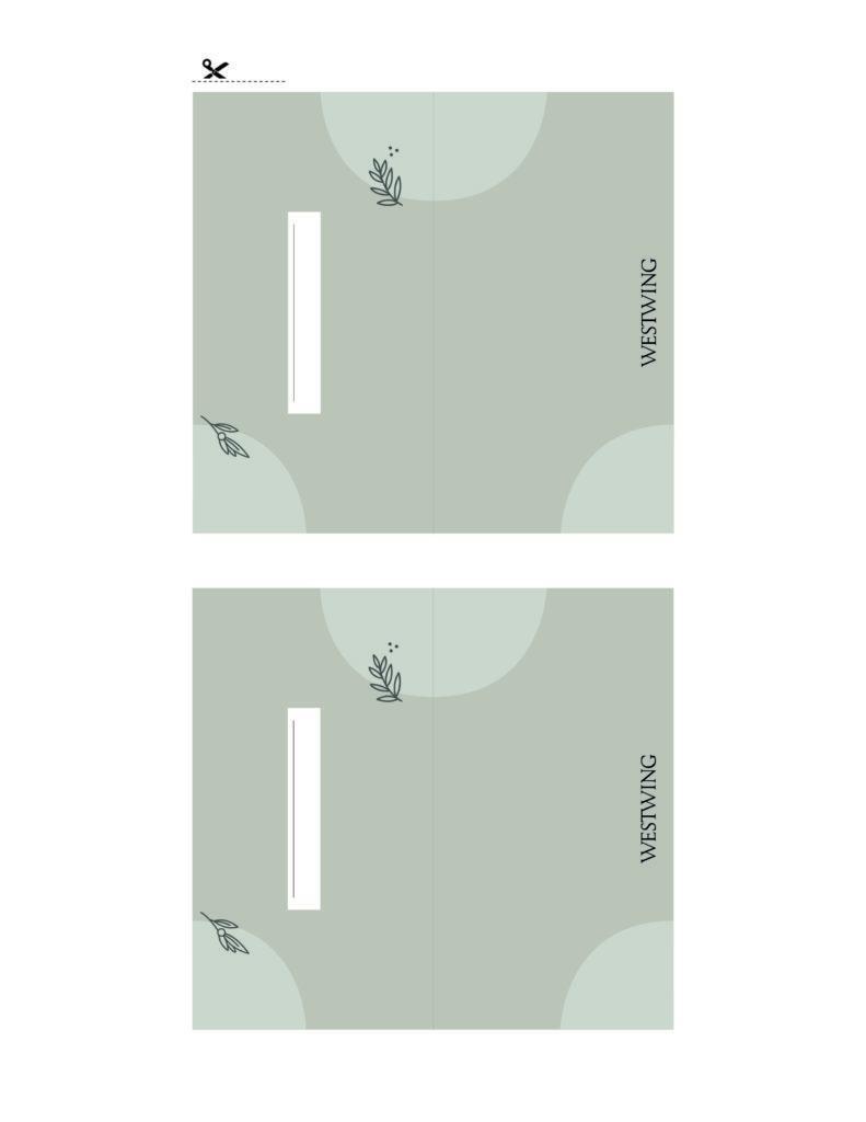 tarjetas de invitados verde