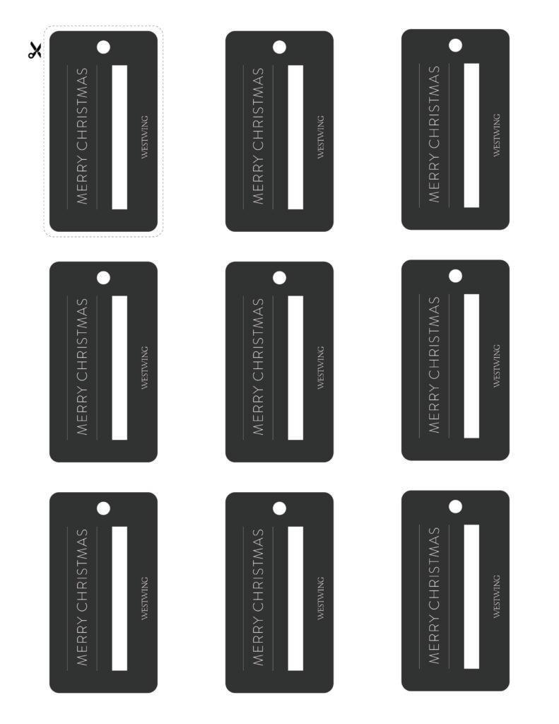 etiquetas negras rectanulares