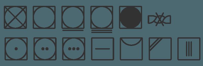 simbolos de secado o secadora tejido