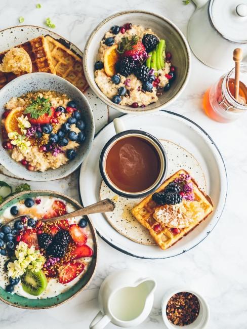 Desayuno saludable con furtas y avena