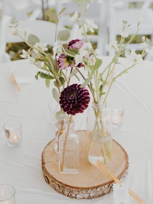 centro de mesa para una boda con un estilo boho