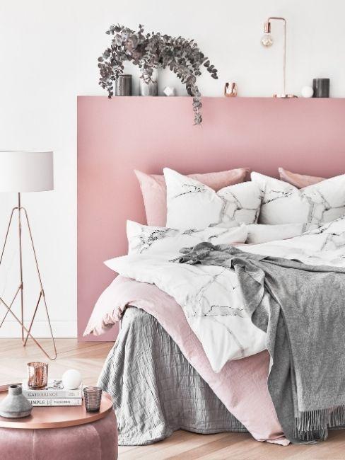 Cama tonos rosa