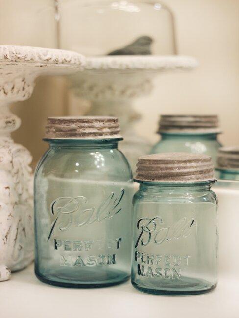 tarros de cristal vintage