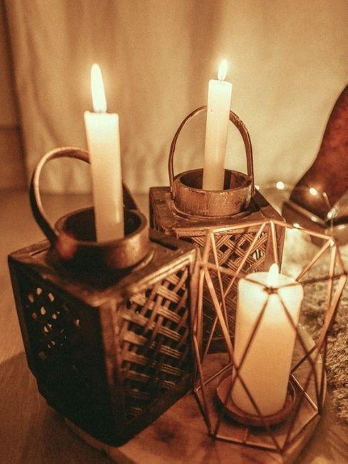 Velas y candelabros para cena de san valentin en casa