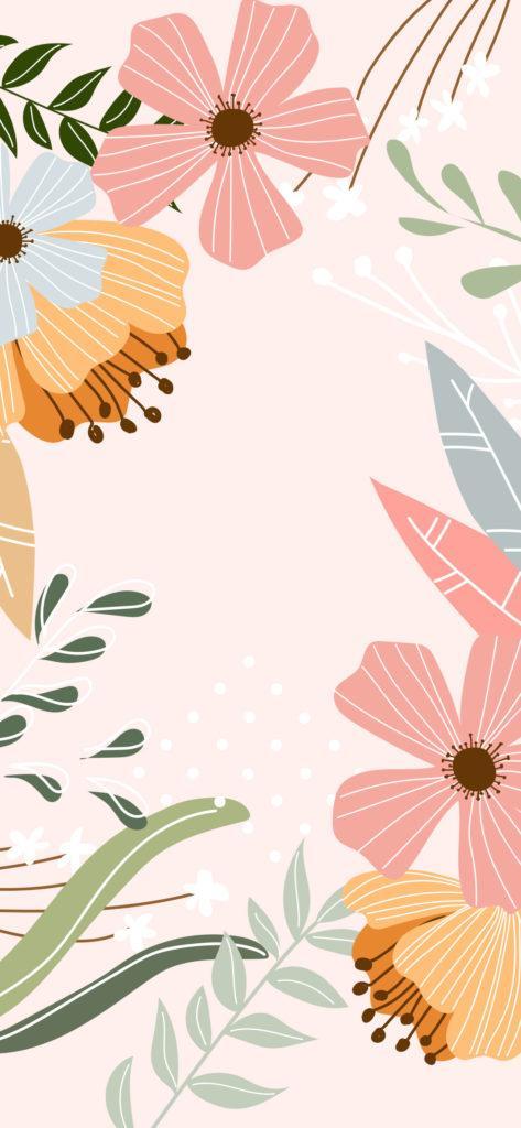 Fondo de primavera rosa y flores
