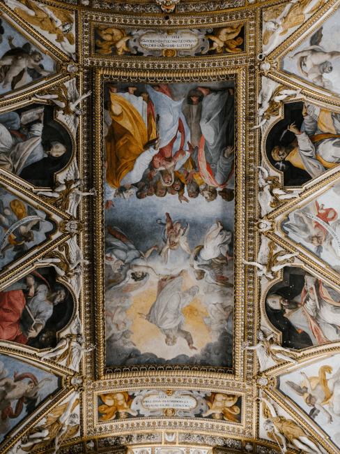 techo con un estilo renacentista