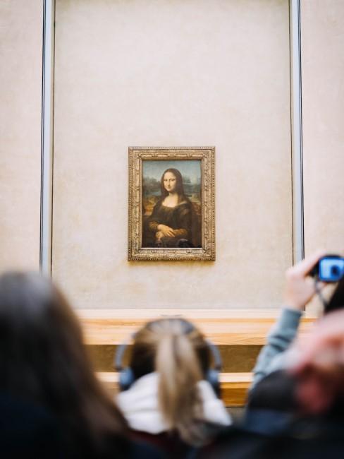Mona lisa en el museo