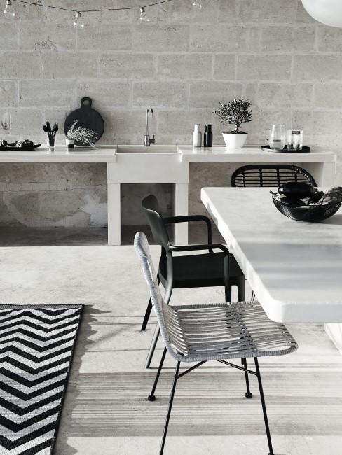 Terraza con decoración minimalista