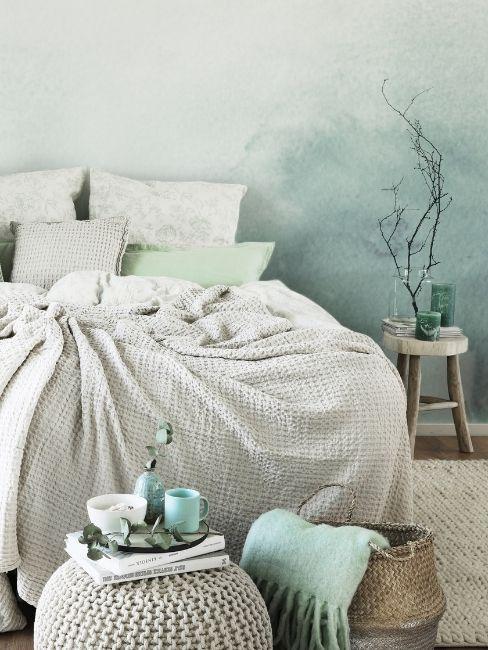 Dormitorio en verde