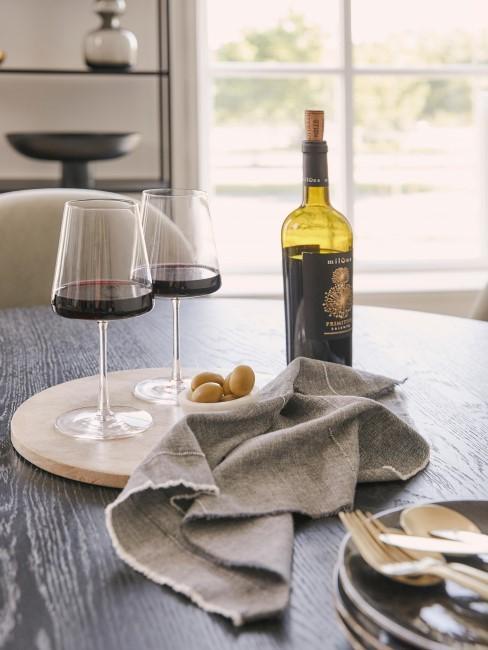 Copas de vino tinto de cristal Power, 6 uds.