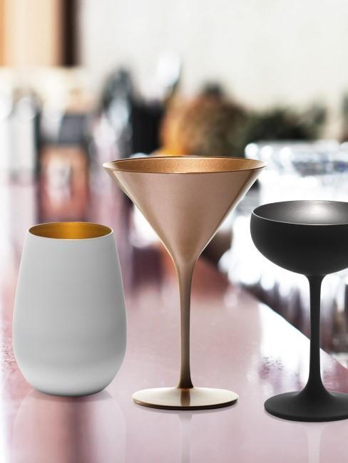 Copas y vasos de cristal Elements