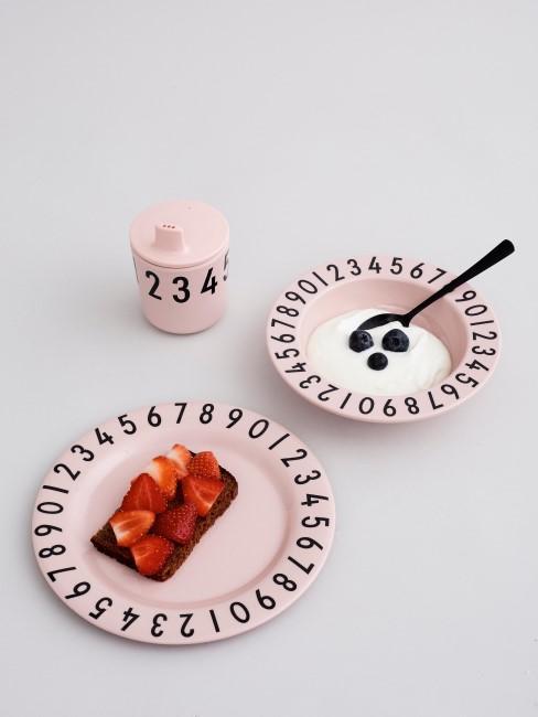 Set de desayuno Numbers en rosa
