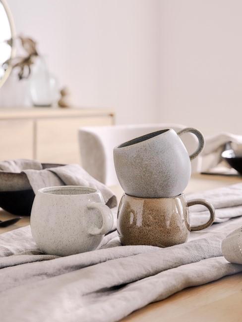 Tazas de té artesanales Addison, 3 uds.