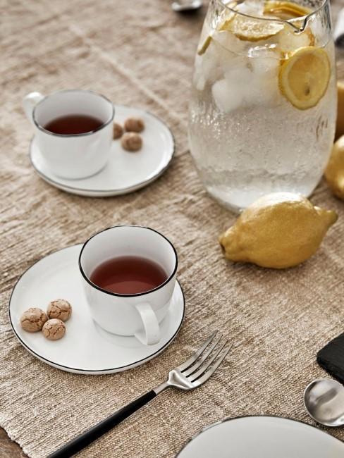 Taza con platito artesanal Salt