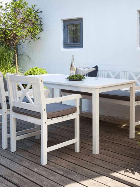 Mesa de comedor para exterior de madera Rosenborg