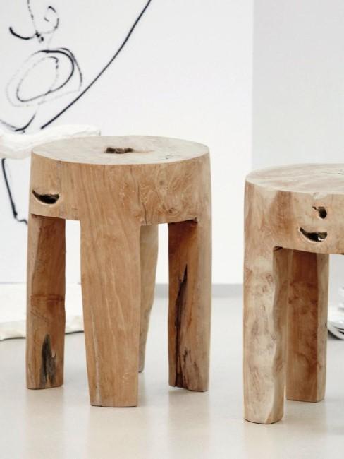 Taburetes de madera de teca