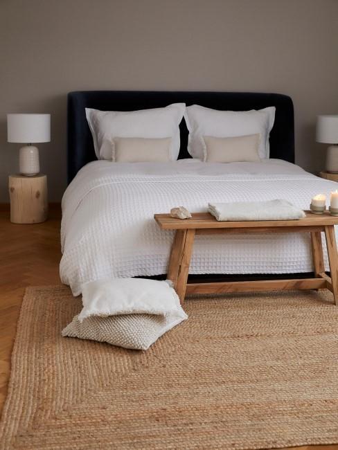 Funda de cojín y ropa de cama de lino con flecos Luana