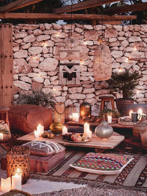 decoración exterior marroqui
