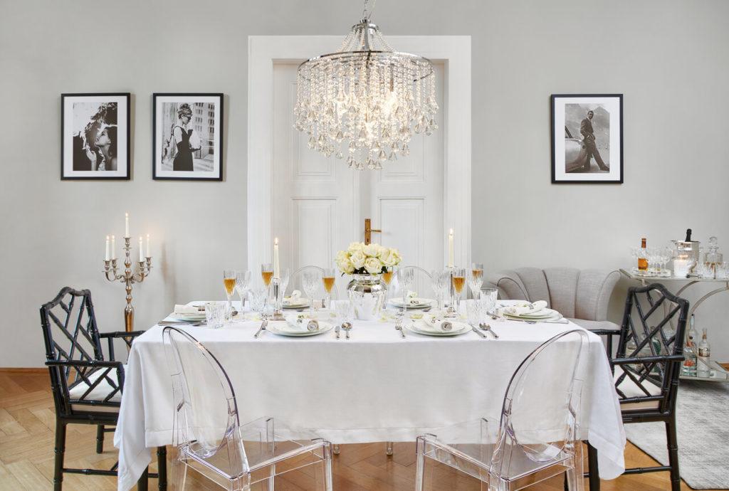mesa y decoración elegante de fiesta
