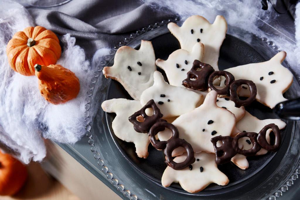 galletas de halloween con fantasmas