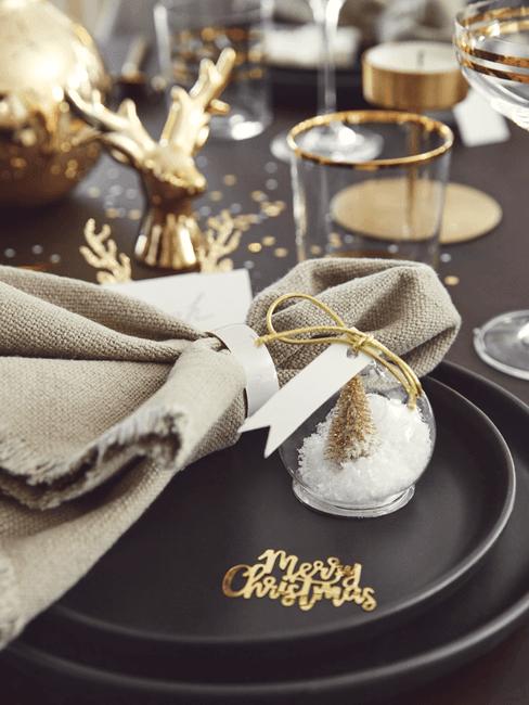 accesorios de mesa de navidad