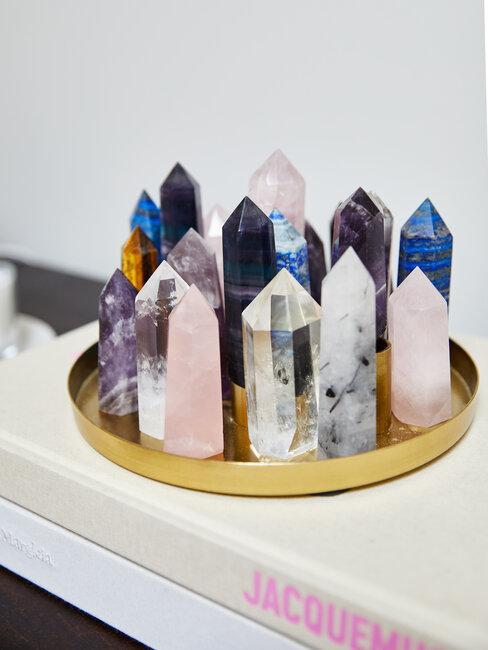 cristales de cuarzo de colores