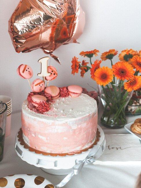 tarta cumpleaños recién nacido