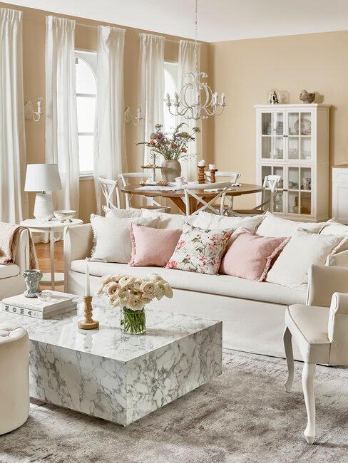 salón estilo francés romántico