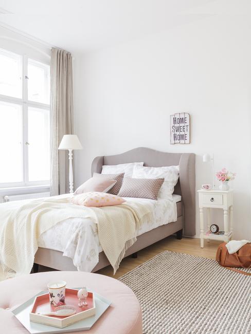 dormitorio tonos pastel romántico francés shabby