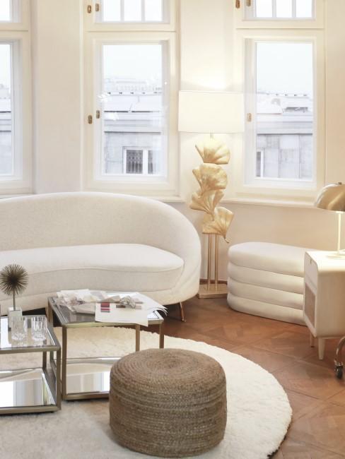 salon decorado en estilo moderno