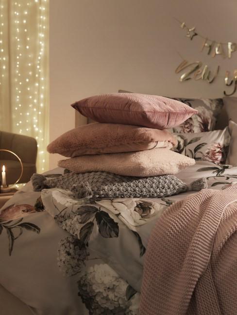diseño de dormitorios con cojines