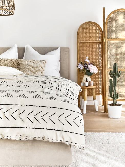 Dormitorio en estilo boho