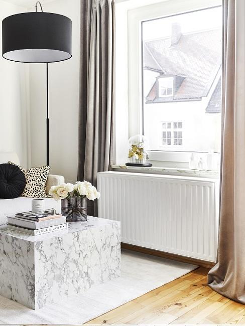 Mesa de marmol blanca