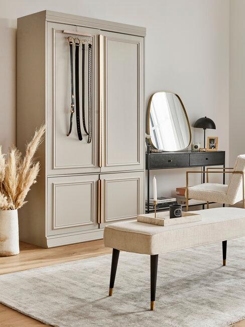 armario dormitorio tonos neutros