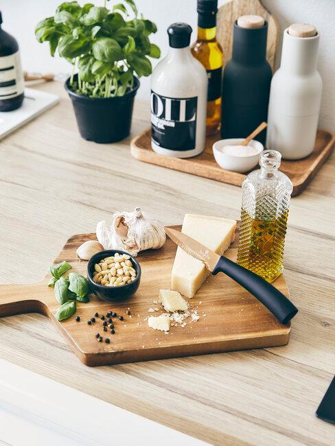 aceite queso piñones