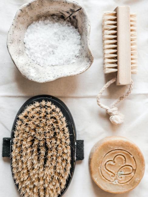instrumentos de baño para exfoliación