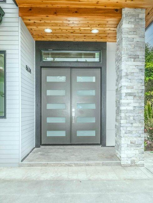 puerta de aluminio entrada casa