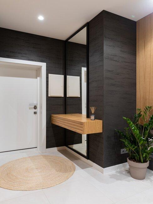puerta blanca y recibidor moderno