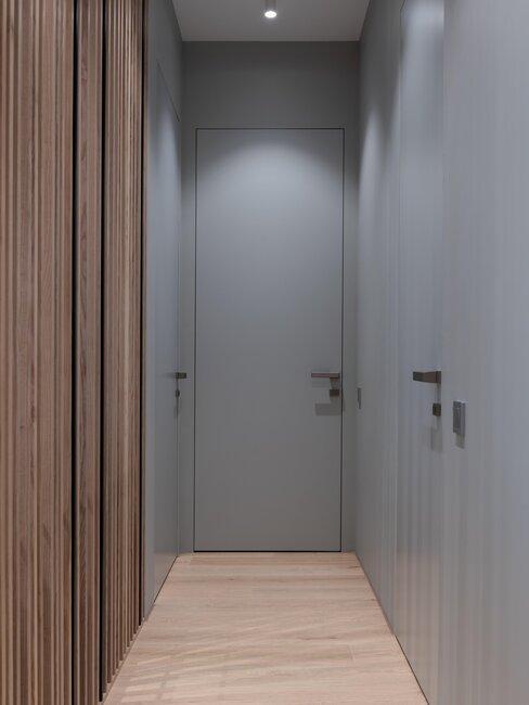 puerta pvc gris
