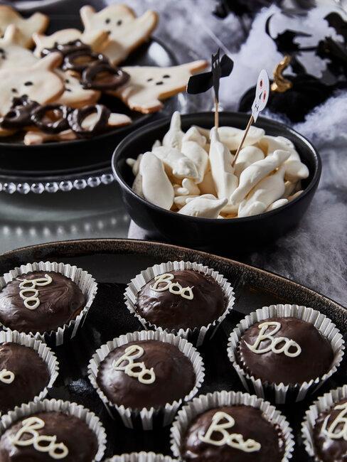 muffins y galletas de halloween